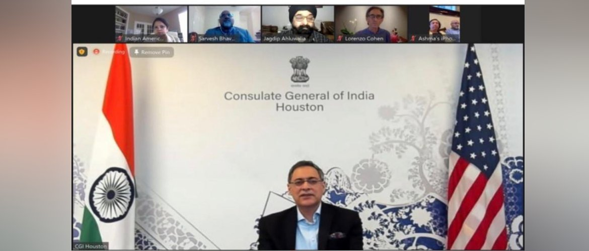 Consul General participated in the webinar 'Yoga as a way to transform your health and life - By Dr. Lorenzo Cohen, Director of Integrative Medicine Program at the UT MD Anderson Cancer Center' on 27 February 2021.