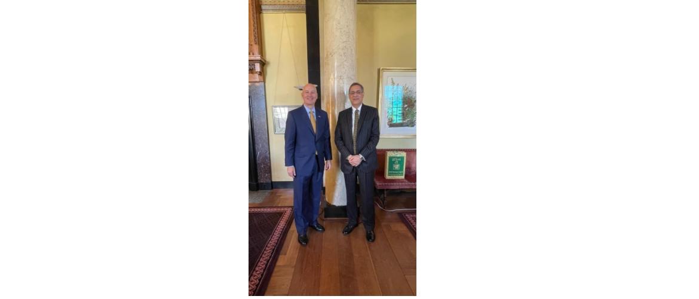 Consul General met Governor of Nebraska, Pete Ricketts on August 26,2021