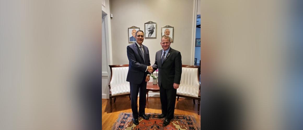 Consul General met Congressman Troy Nehls on April 1, 2021.
