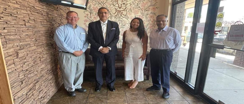 Consul Generals meeting with Dr. Patrick McNamara, Director of International Studies & Dr. Phani Tej Adidam, Director, Center for Intl Business Initiatives, University of Nebraska, Omaha on August 25, 2021