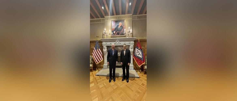 Consul General met Governor of Arkansas Asa Hutchinson on September 1,2021