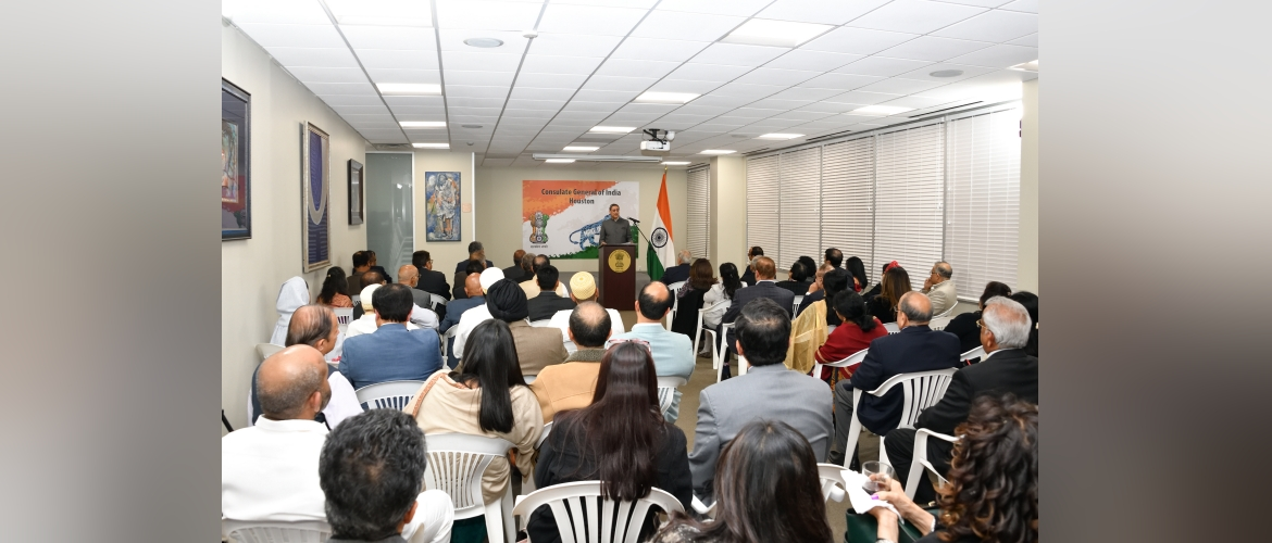 Consul General interacted with Indo-American Community in Houston