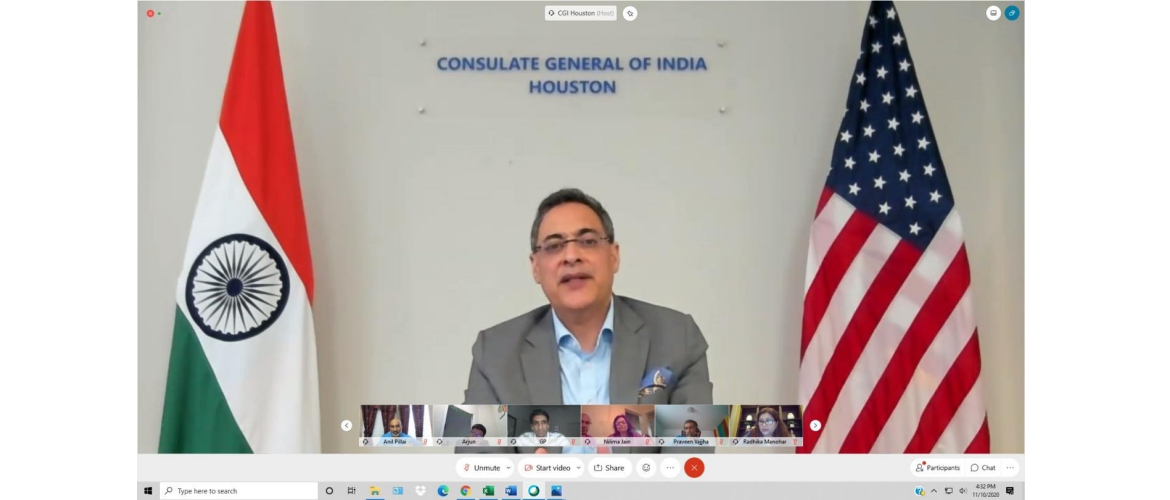 Consul General's interaction with Indian-American community in Oklahoma on November 10,2020