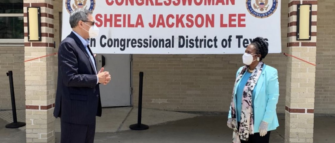 Consul General interacted with Congresswoman Sheila Jackson Lee