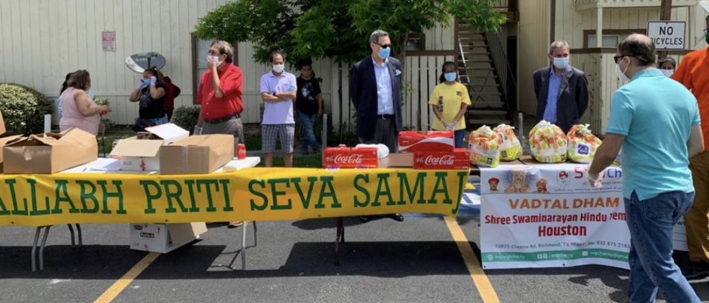Food Distribution Drive organized by VPSS Haveli, Sewa International and Chinmaya Mission on May 23, 2020