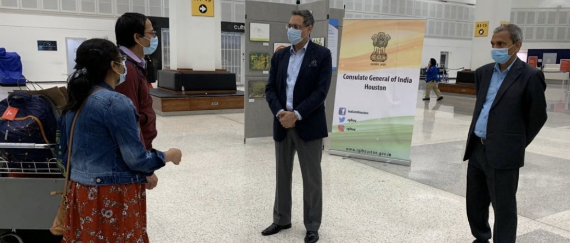 Vande Bharat Mission -Passengers from Southern United States bound for Delhi & Hyderabad on May 15, 2020